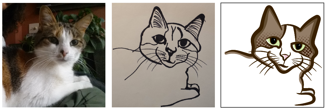 digital cat drawing