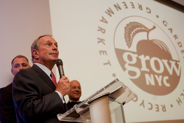 Mayor Bloomberg speaks at a GrowNYC fundraising event