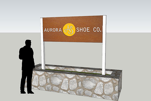 Factory sign concept model - by St. John Design Group