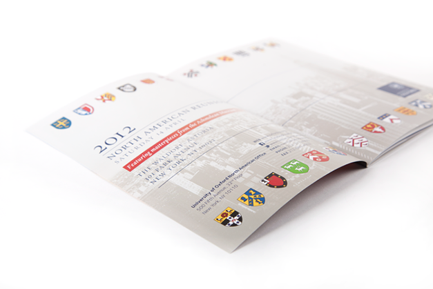 Pages from the 2012 North American Reunion invitation booklet