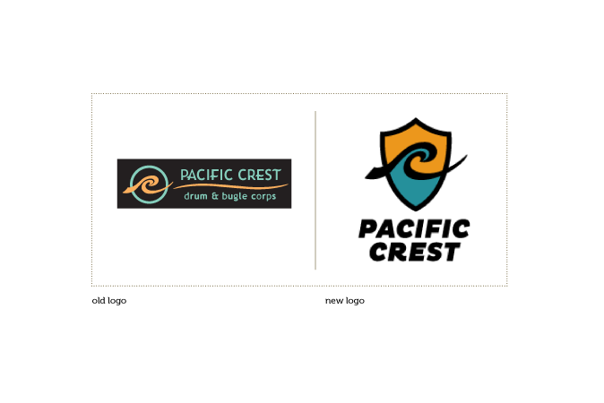 A comparison of Pacific Crest's old & new logo