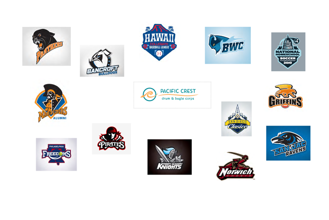Excerpt from Discovery Phase/Visual Survey - sports team logos