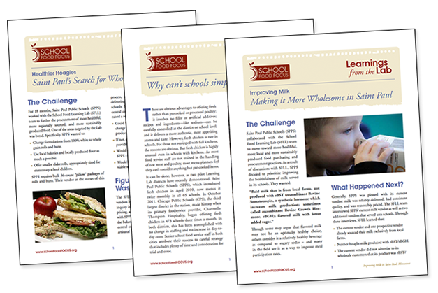 Learnings from the Lab are a series of educational briefs that describe how School Food FOCUS Learning Lab districts achieved food procurement goals.