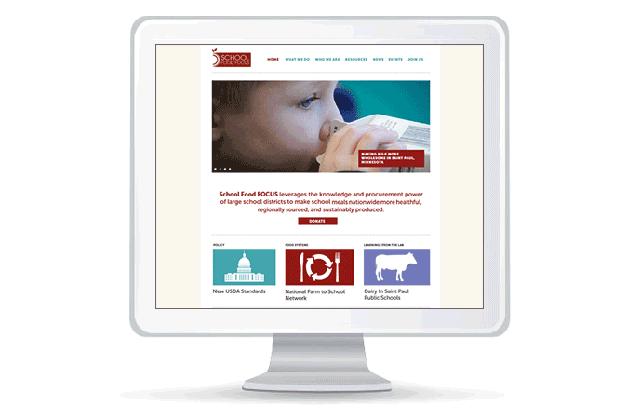 Website design for School Food FOCUS
