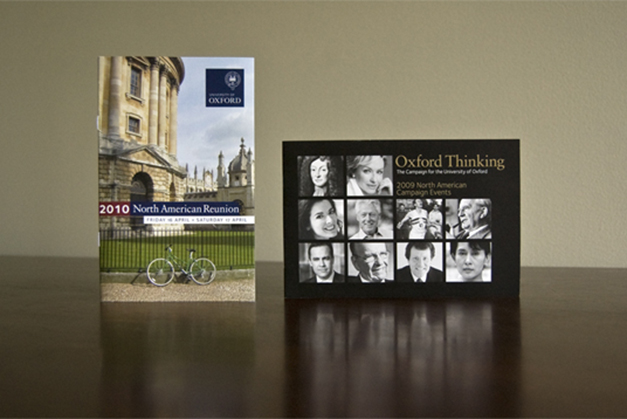 2010 North American Reunion invitation & Oxford Thinking campaign events
