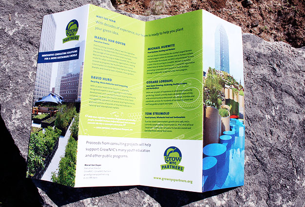 Brochure for consulting initiative, GrowNYC Partners