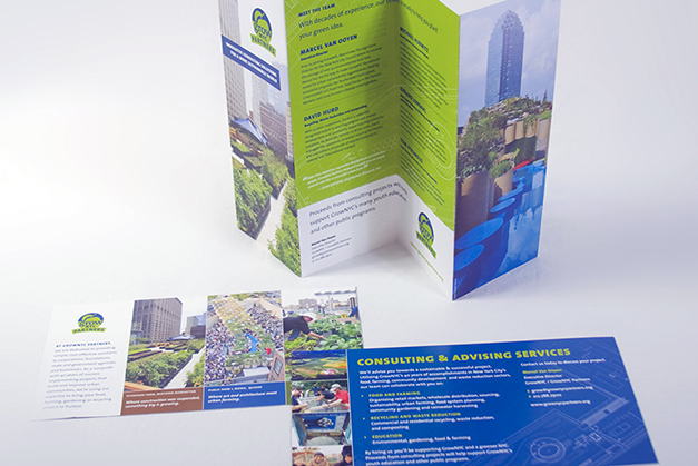 Print promotions for consulting initiative, GrowNYC Partners