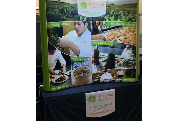 Trade show booth display for conference