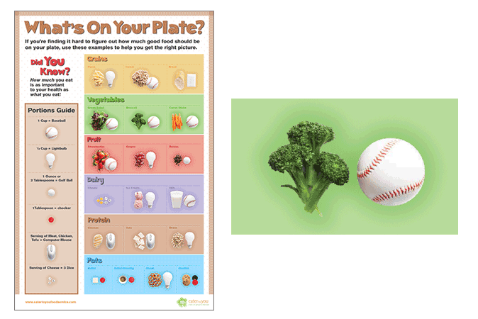 Portion Control educational poster (actual size 24-in x 36-in)