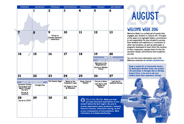 Isu Explore Sycamore Orientation Campaign Calendar 7 Stone Soup