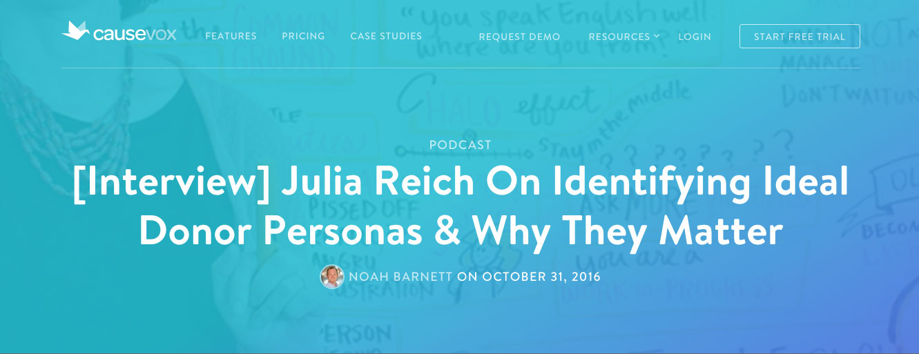 [Interview] Julia Reich On Identifying Ideal Donor Personas & Why They Matter