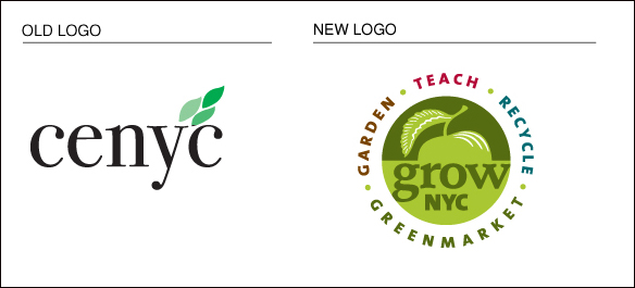 GrowNYC: before and after logo re-design