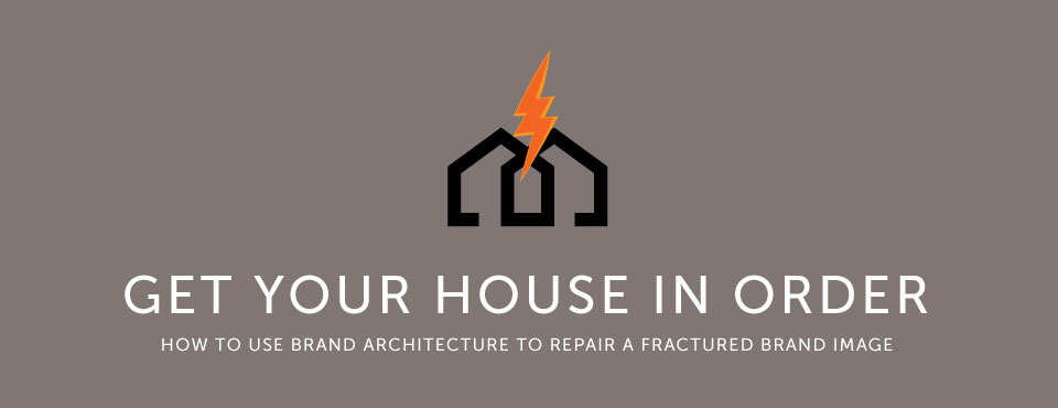 Get your house in order: how to use brand architecture to repair a fractured brand image