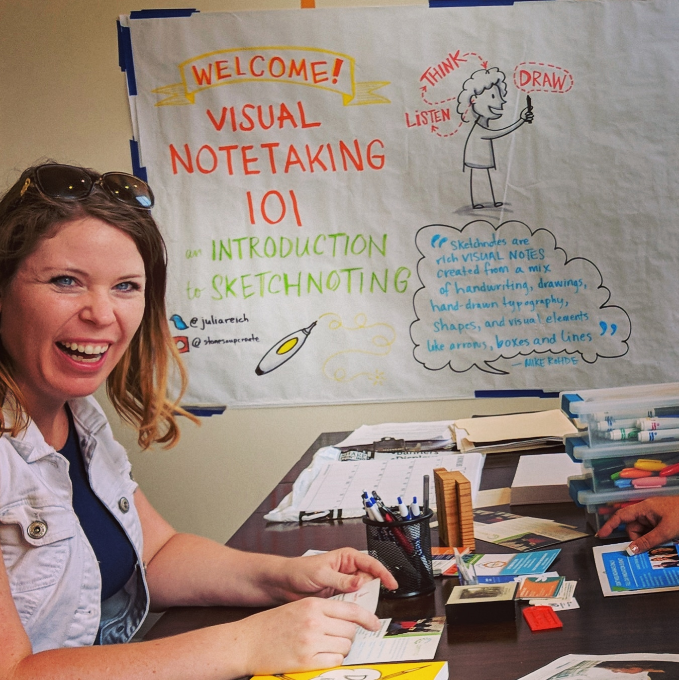 sketchnoting workshop with Julia Reich of Stone Soup Creative