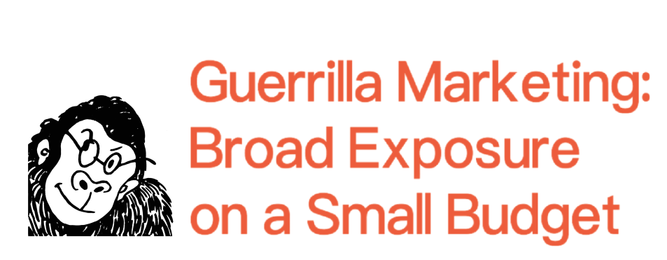Guerrilla Marketing: Broad Exposure on a Small Budget — 3-Hour Consultations for Small Design Studios and Startups