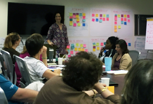 Julia Reich leads brand strategy session for healthcare organization