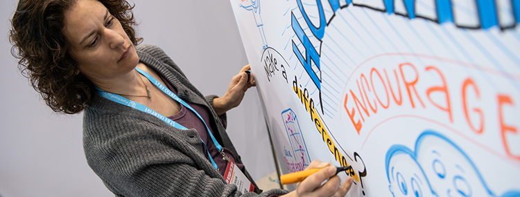 HOW Design Live 2019 Julia Reich Interaction Wall Graphic Recording Stone Soup Creative