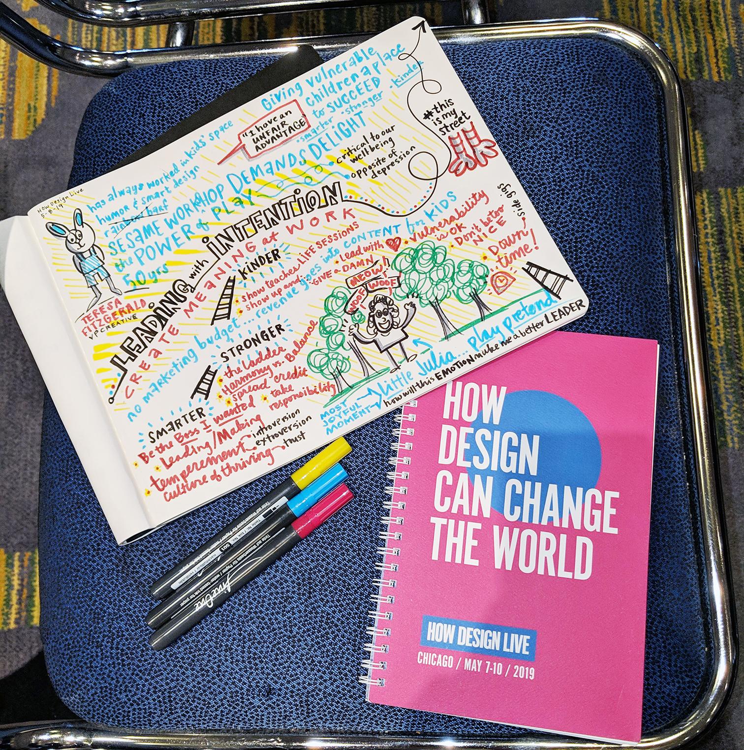HOW Design Live 2019 Teresa Fitzgerald sketchnotes by Julia Reich