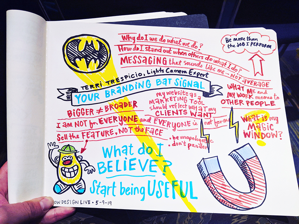 HOW Design Live 2019 Terri Trespicio sketchnotes by Julia Reich
