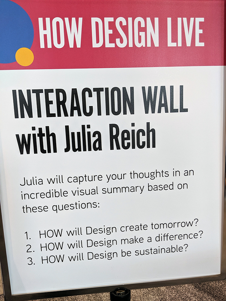 HOW Design Live Julia Reich Interaction Wall