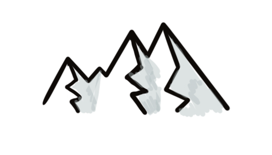 top ten doodles for visual communication - mountains