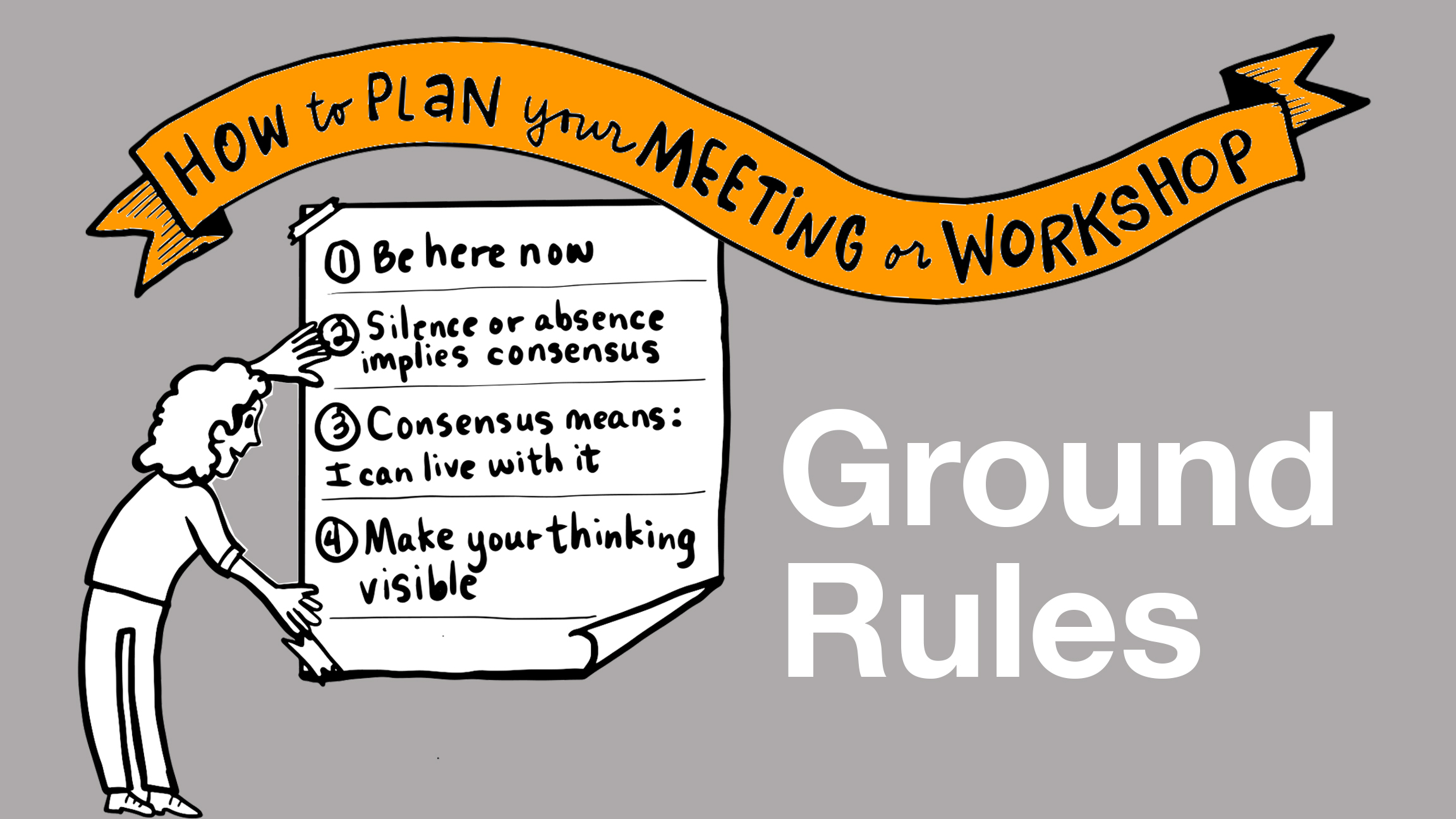 meeting ground rules - sample hand drawn powerpoint slide